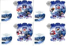 SIERRA LEONE  SOCHI 2014 OLYMPIC RUSSIA FRANCE  WINNERS 4 FDC - Winter 2014: Sochi