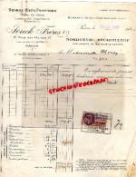 75 - PARIS - FACTURE JOUCK FRERES - BEURRE FROMAGES-49 RUE ST HONORE- 1935 - France