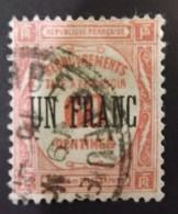 1 Franc Sur 60 Centimes  Recouvrements 1929  Rouge - 1859-1955 Used
