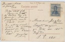 LBR29/3-ARGENTINE CPA BUENOS AIRES / SP 225  19/2/1918 - Argentine