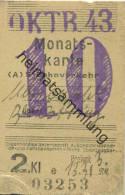 Berlin - Monatskarte - S-Bahnverkehr Marienfelde Berlin Ostring - 2. Klasse Preisstufe 3 13.31RM 1943 - Bahn