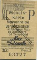 Berlin - Monatskarte - Marienfelde Berlin Potsd. Ringbf.- 2. Klasse Preisstufe 2 1943 - Bahn