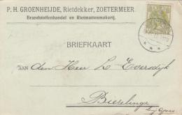 Briefkaart 19 Apr 1916 Zoetermeer ***  (typerader Langebalk) - Marcofilia