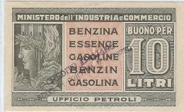 LBR29/3-  ITALIE COUPON VALABLE POUR 10L D'ESSENCE - Monnaies & Billets