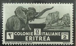 ERITREA 1933 SOGGETTI AFRICANI LIRE 2  MNH - Eritrea