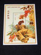 Nevis - 1996 Year Of The Rat Block MNH__(THB-4264) - St.Kitts Und Nevis ( 1983-...)