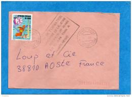 """MARCOPHILIE-lettre  CONGO>Françe-cad   1986 +cachet  """"camp De Formation Militaire  De Pointe Noire - Congo - Brazzaville"""