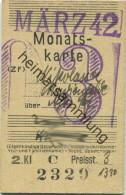 Berlin - Monatskarte - Nikolassee Marienfelde - 2. Klasse Preisstufe 3 13.30RM 1942 - Bahn