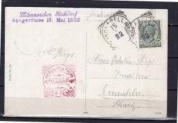 1922 Rare Red Postal Cancel PEROLINI & FIORI Hôtel Du Dauphin Isola Bella (i282) - Storia Postale