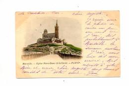 Carte Marseille Notre Dame  Cachet - Notre-Dame De La Garde, Aufzug Und Marienfigur