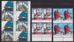 AAT 2003 Dan Ships 4v Bl Of 4 ** Mnh (31599) - Australian Antarctic Territory (AAT)