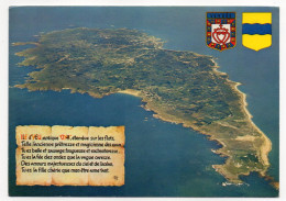 Ile D'YEU--Vue Aérienne (blasons ),cpm éd Artaud - Ile D'Yeu