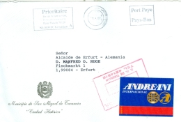 Argentinien San Miguel De Tucuman MWST 1991 Stadtverwaltung Wappen Label Andreani Motorrad - Argentinien