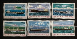 Roumanie Romania 1979 N° 3191 / 6 ** Marine Marchande, Bateau, Cargo, Minéralier, Pétrolier, Pétrole, Pollution, Dacia - 1948-.... Republics