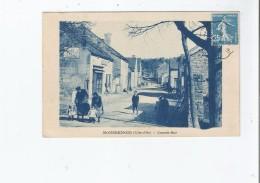 BOUSSENOIS (COTE D´OR) GRANDE RUE (ANIMATION ET PLAQUE PUB CHOCOLAT MENIER) 1925 - Autres Communes