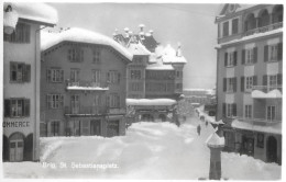 BRIG → St.Sebastiansplatz Im Tiefen Winter, Photokarte Ca.1950 - VS Valais