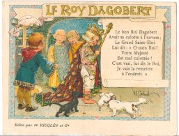 Publicité Des Ets Ricqlès Et Cie Chanson Illustrée Le Roy Dagobert :  Signée : H.Gerbault - Andere Illustrators