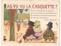 """Publicité Des Ets Ricqlès Et Cie Chanson Illustrée"""" As-tu Vu La Casquette ? """"  :  Signée : H.Gerbault - Andere Illustrators"""