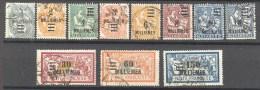 Alexandrie: Yvert N°64/74°; Sauf 65A - Alexandrie (1899-1931)