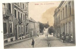 2  CPA     ARLON   RUE  DE  LUXEMBOURG +  AUBANGE  CAFE  COSMOPOLITE - Arlon