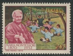 Italy Italie Italia 1970 Mi 1314 YT 1052 ** Dr. Maria Montessori (1870-1952) Educationist, Governess / Pädagogin - Beroemde Vrouwen