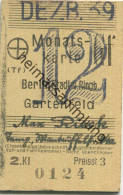 Berlin - Monatskarte - Berlin Stadt- Und Ringbahn Gartenfeld - 2. Klasse Preisstufe 3 1939 - Bahn