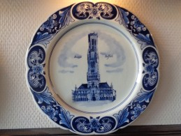 * Brugge - Bruges * Porseleinen Bord (Delfts Blauw) Van Belfort Te Brugge - Delft (NLD)
