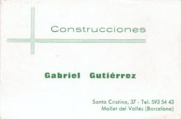 TARJETA De Visita  CONSTRUCCIONES  GABRIEL GUTIERREZ - Tarjetas De Visita