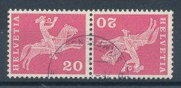 Suisse Tête-Bêche N°646b (o) - Tête-Bêche