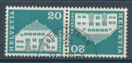 Suisse Tête-Bêche N°818a (o) - Tête-Bêche