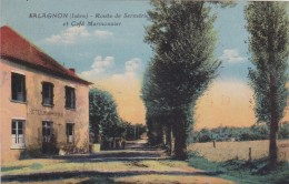 CARTE POSTALE  SALAGNON 38  Route De Sermérie Et Café Marmonnier - Autres Communes