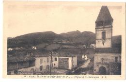 Saint Etienne De Baigorry  L'église Et Les Montagnes Neuve TTB - Saint Etienne De Baigorry