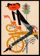 5662 - Alte Postkarte - Werbekarte Deutsche Verkehrsausstellung München 1953 - Sonderstempel - Josef Feigt - Publicité