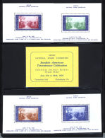 United States Swedish American Tercentenary Exhibition Complete Booklet With 4 Blocks  MNH/** - Vereinigte Staaten
