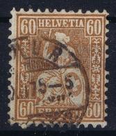 Switserland 1862 Yv Nr 40c Used - 1862-1881 Helvetia Seduta (dentellati)