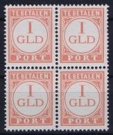 Netherlands Indies  NVPH Nr Port P38 4- Block 2 X MNH/** And 2x MH/* - Niederländisch-Indien
