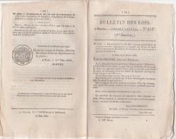 Bulletin Des Lois N° 213 - 1833 - Pont Du Rhin Strasbourg Kehl, Pont De Bateaux, Sapeurs Pompiers Paris, Caudehec 76 - Décrets & Lois