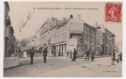 85 VENDEE - FONTENAY LE COMTE Rue De La République Et Rue Blossac - Fontenay Le Comte