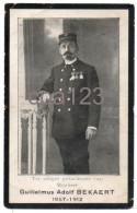 """Doodsprent Petegem - Deinze - Spoorweg - Chemin De Fer """" La Fraternelle """" Antwerpen Gent 1912 - Imágenes Religiosas"""