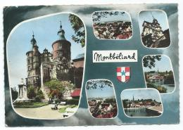 CPSM MULTIVUES COLORISEE MONTBELIARD, DOUBS 25 - Montbéliard