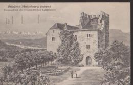 """CPA:Schloss Habsburg (Aargau):Cachet """"Saisi Par Autorité Militaire"""" - AG Argovie"""