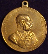 IMPERIO AUSTRO-HÚNGARO. FRANCISCO JOSÉ I. MEDALLA 50 ANIVERSARIO CORONACIÓN. 1.898 - Monarquía / Nobleza