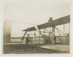 """Photo Légendée """"Wilbur Wright Au Mans"""". Première école D´aviation. 1908. - Aviation"""