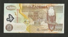 ZAMBIA  - BANK Of ZAMBIA - 500 KWACHA (2008) - Zambie