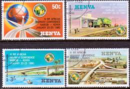 KENYA 1980 SG #168-71 Compl. Set Used Int. Road Federation - Kenya (1963-...)