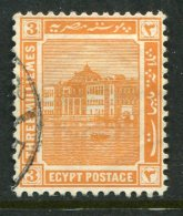 Egypt 1914 Pictorials - 3m Ras-el-Tin Palace, Alexandria Used (SG 75) - Egypt
