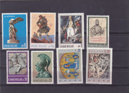 #128  GREEK STATUES, HISTORY, 8 X STAMPS, #1111-1118, 1968, MNH**  GREECE. - Greece