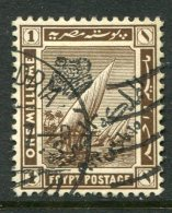 Egypt 1922 Proclamation Of Monarchy Overprints - 1m Nile Feluccas Used (SG 98) - Egypt