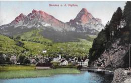 SEEWEN → Lauerzersee Und Das Kleine Dorf Seewen, Ca.1910 - SZ Schwyz