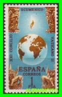 ESPAÑA   ( EUROPA )   SELLO  CLAUSURA  DEL CONCILIO ECUMÉNICO VATICANO II   AÑO 1965 NUEVO - 1961-70 Nuevos & Fijasellos